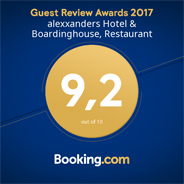booking.com Guest Review Awards 2017 - 9 out of 10